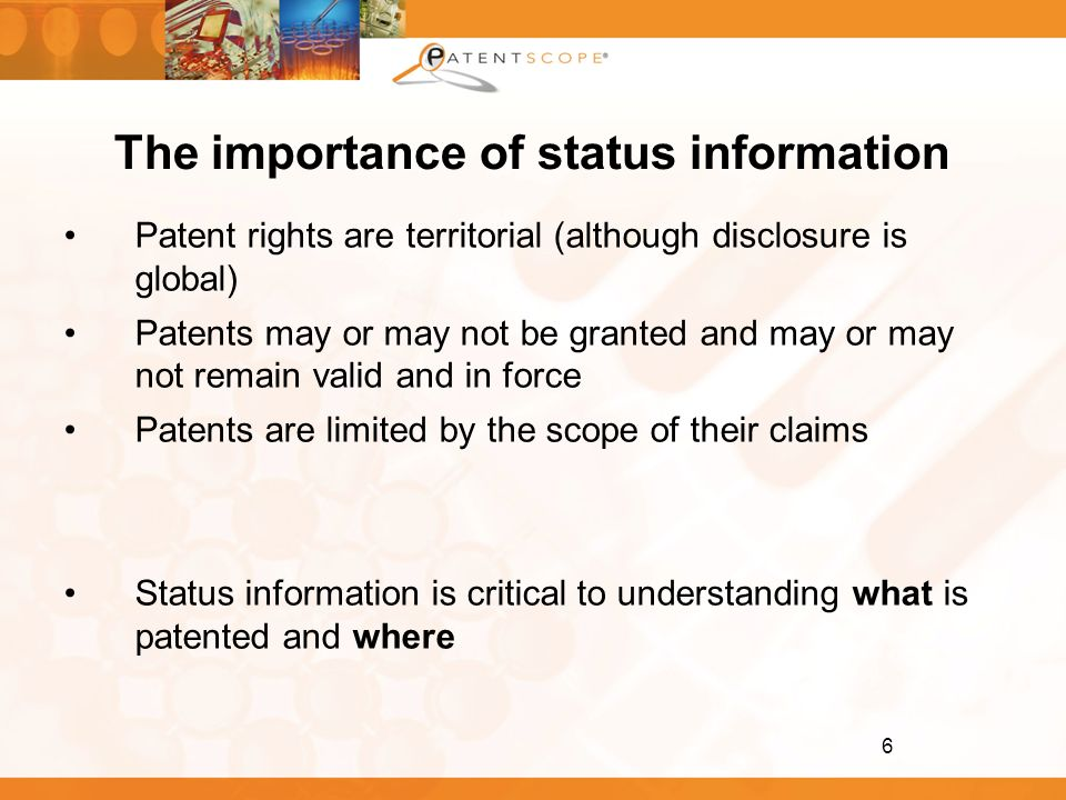 The importance of status information