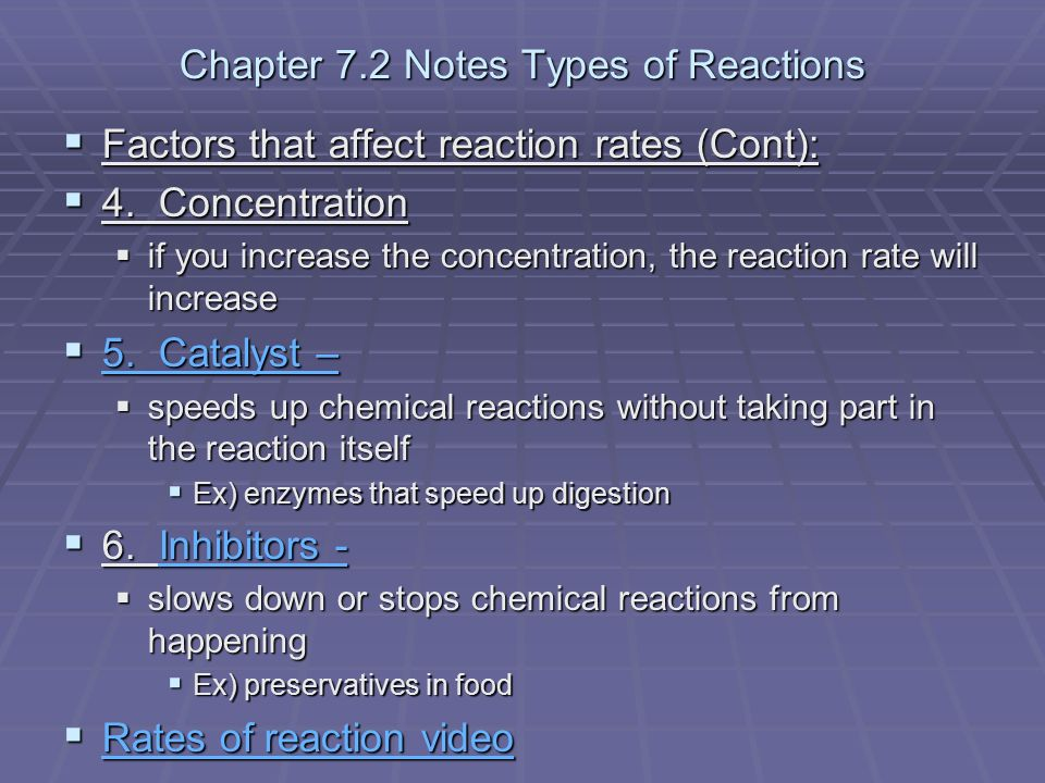 Chapter 7 Notes Chemical Reactions Ppt Video Online Download. Chapter 72 Notes Types Of Reactions. Worksheet. Types Of Reactions Worksheet Prentice Hall At Mspartners.co
