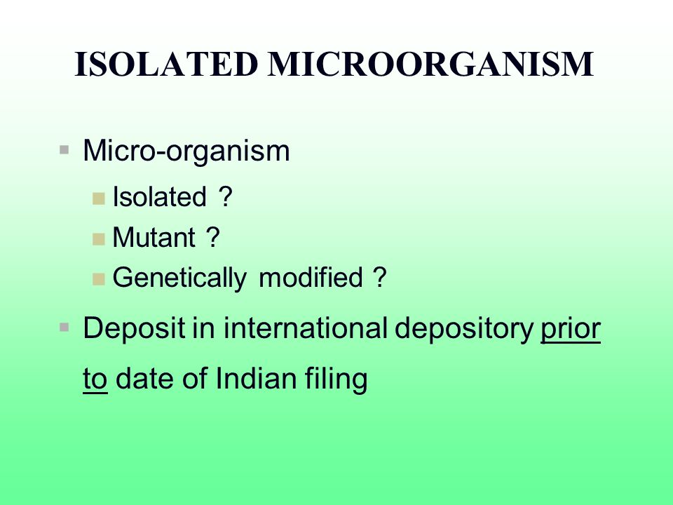 ISOLATED MICROORGANISM