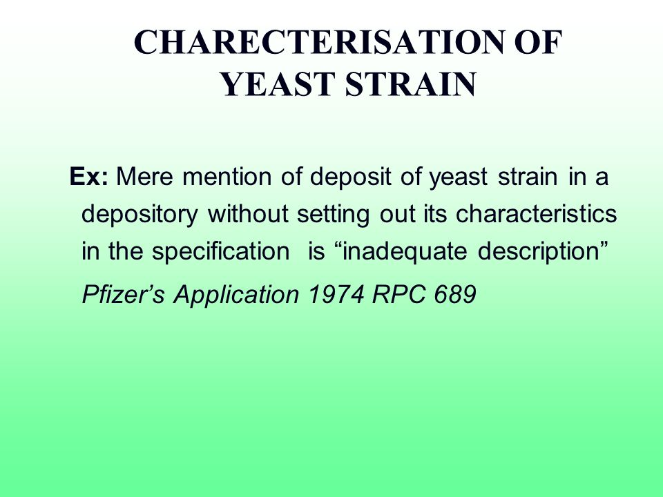 CHARECTERISATION OF YEAST STRAIN