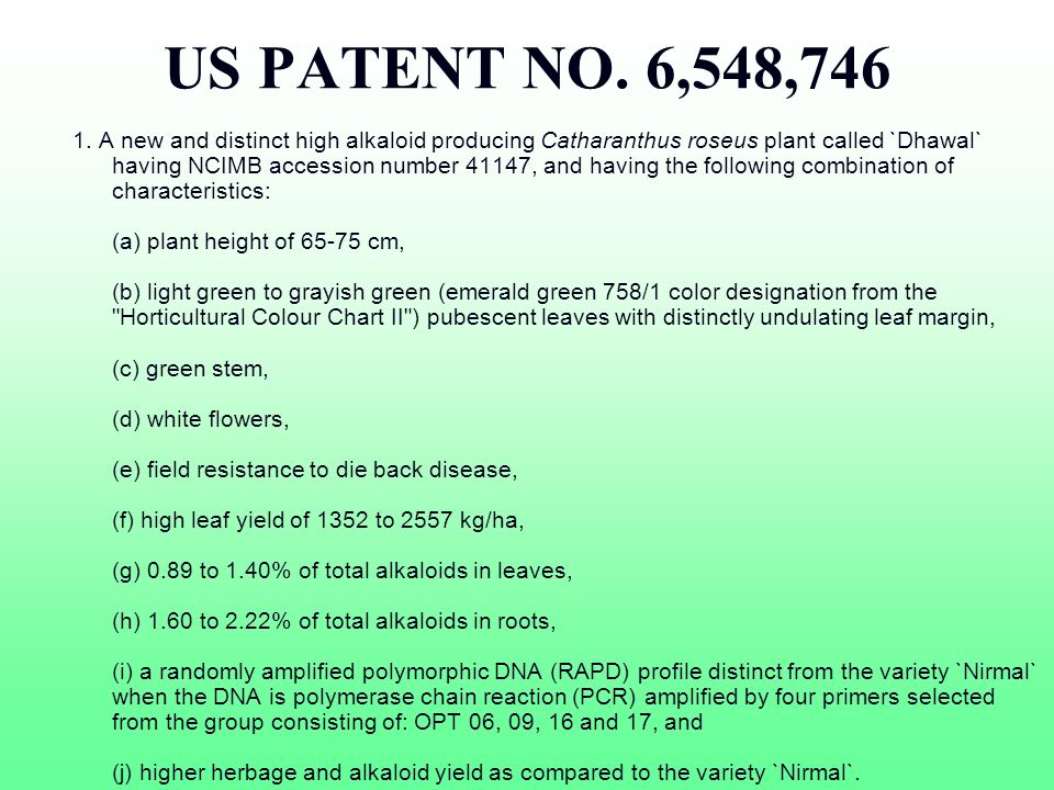 US PATENT NO. 6,548,746