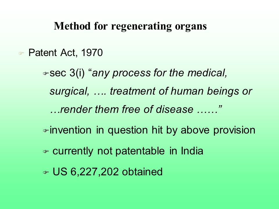 Method for regenerating organs