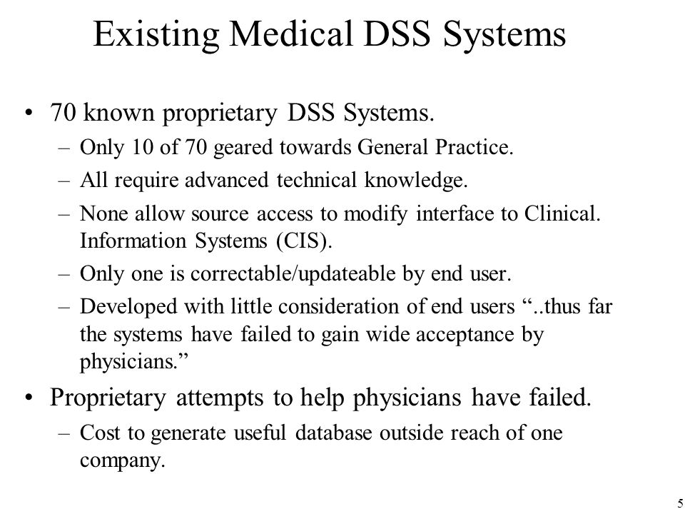 Open source medical decision support systems dss ppt video existing medical dss systems fandeluxe Image collections