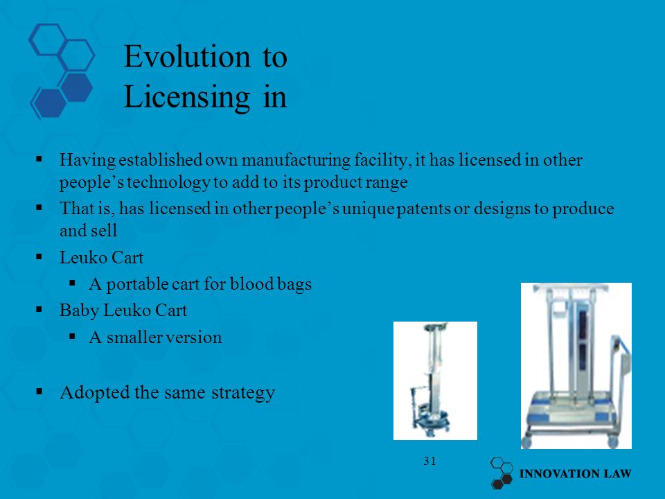 Evolution to Licensing in