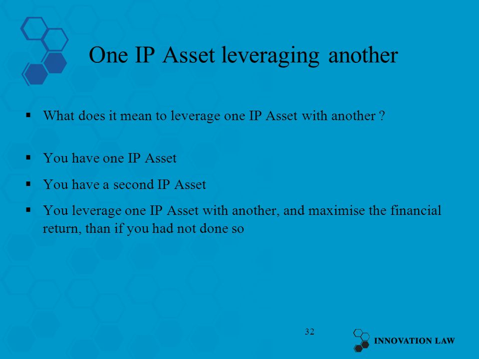 One IP Asset leveraging another