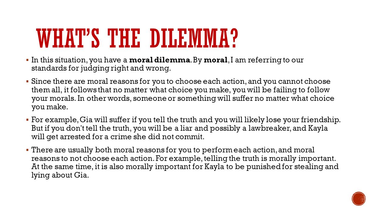 dilemma examples for students