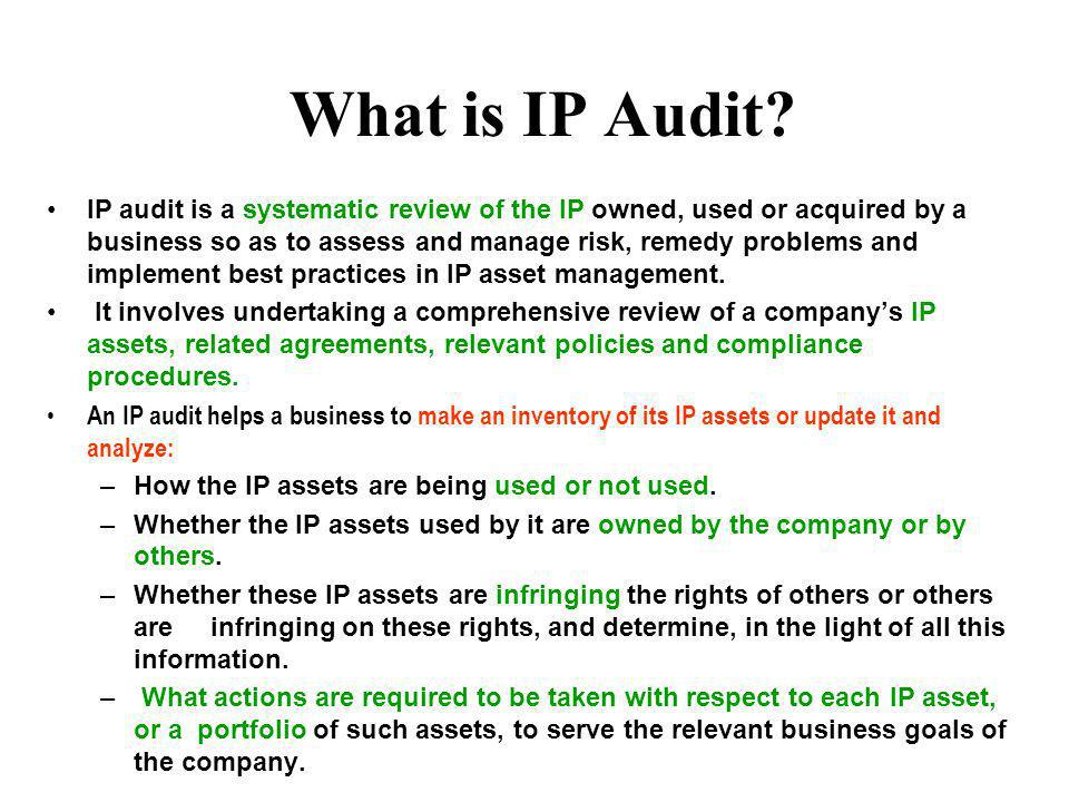 What is IP Audit