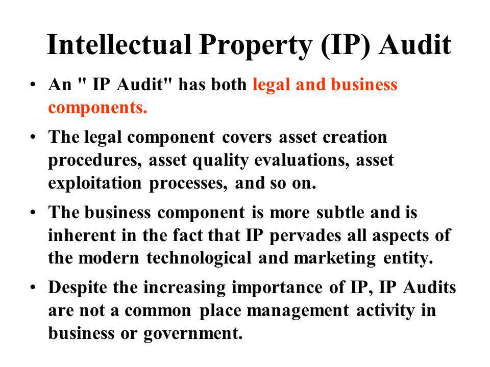 Intellectual Property (IP) Audit