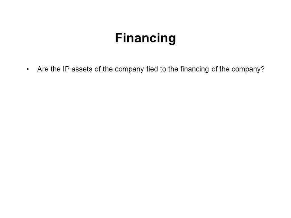 Are the IP assets of the company tied to the financing of the company