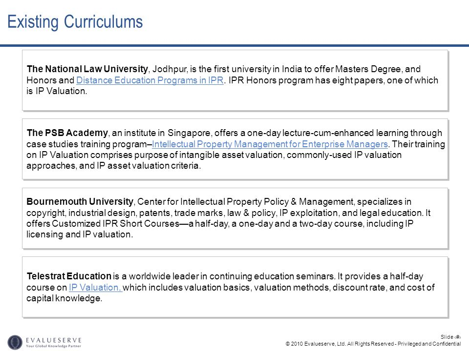 Existing Curriculums