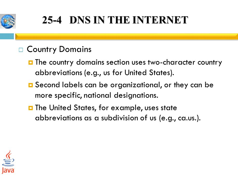 25 4 Dns In The Internet Country Domains
