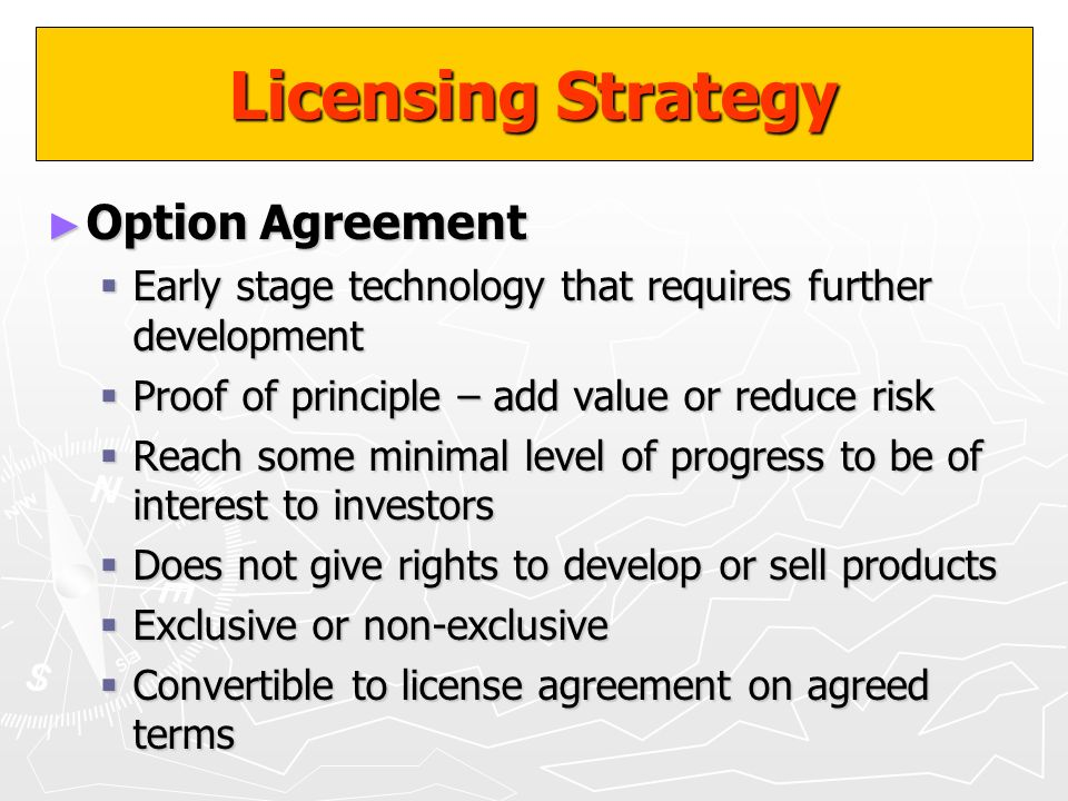 Licensing Strategy Option Agreement