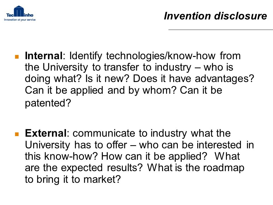 Invention disclosure