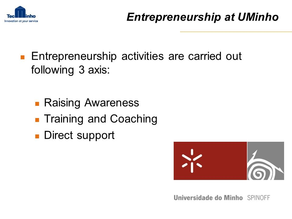 Entrepreneurship at UMinho
