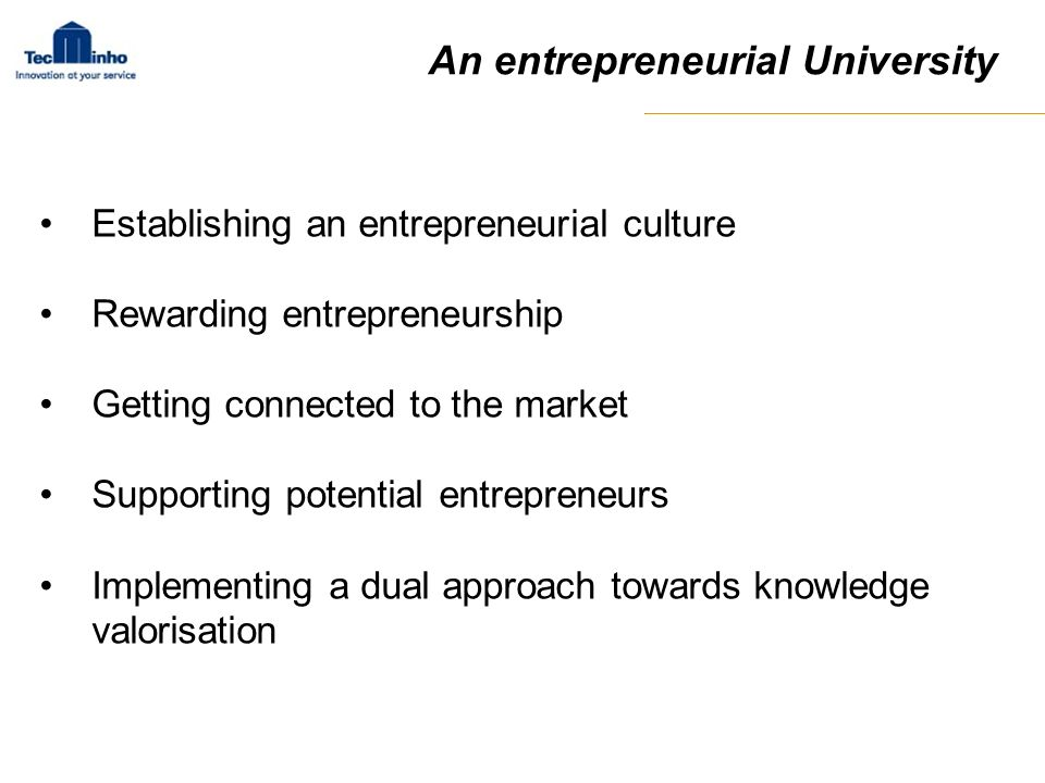 An entrepreneurial University