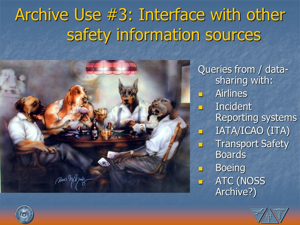 Archive Use #3: Interface with other safety information sources