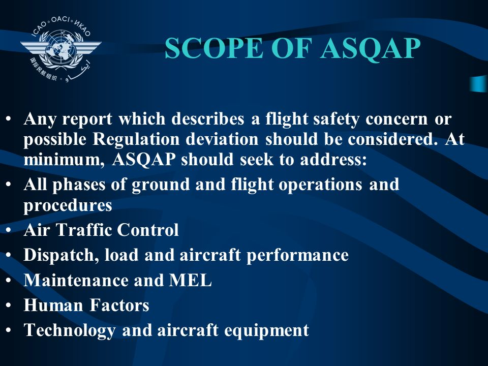 SCOPE OF ASQAP