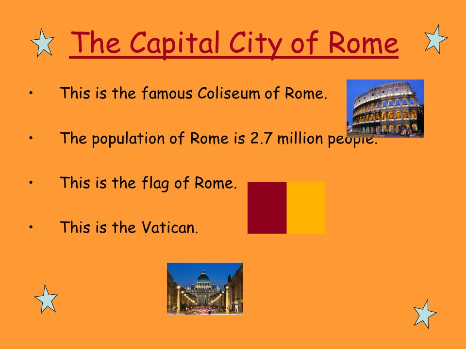 The Capital City of Rome