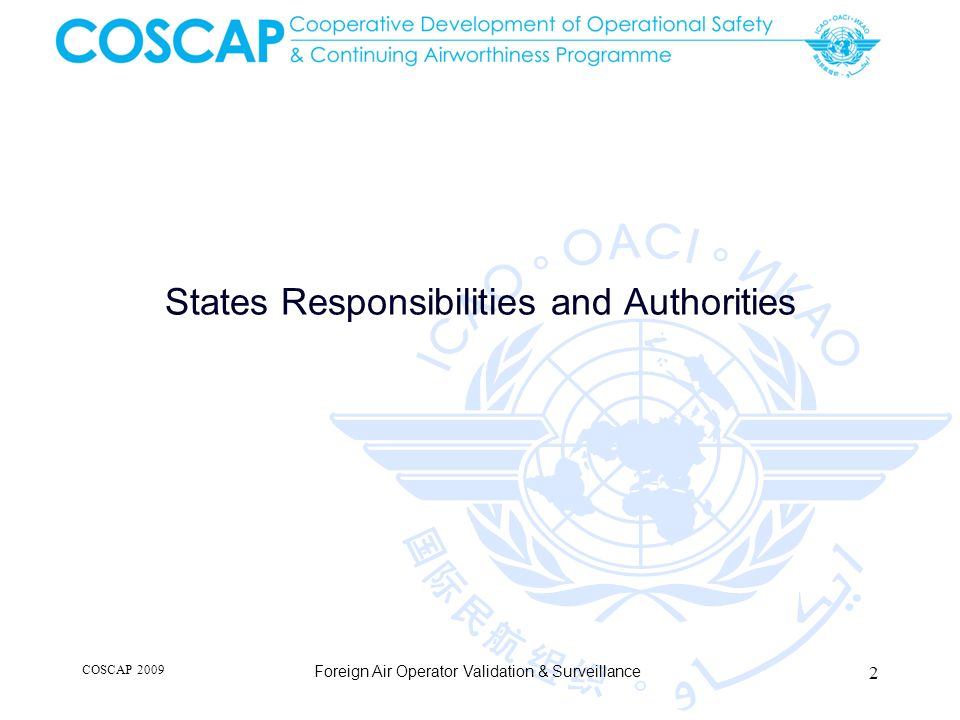States Responsibilities and Authorities