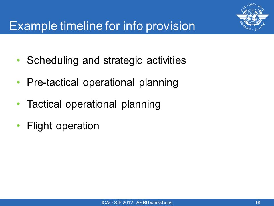 Example timeline for info provision