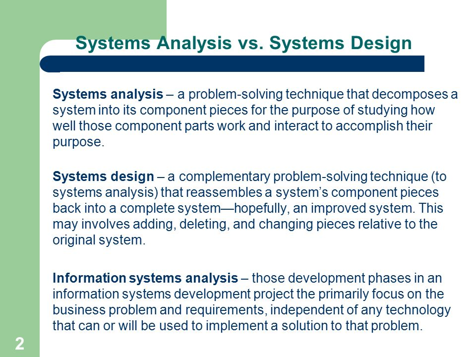 2131 Structured System Analysis And Design Ppt Video Online Download