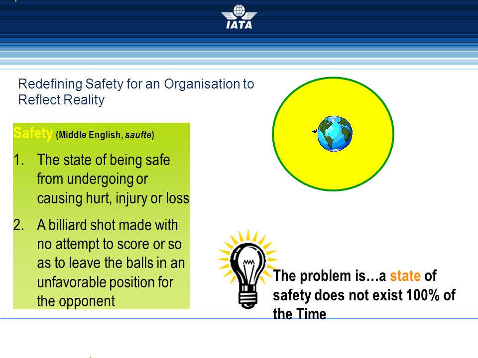 Redefining Safety for an Organisation to Reflect Reality