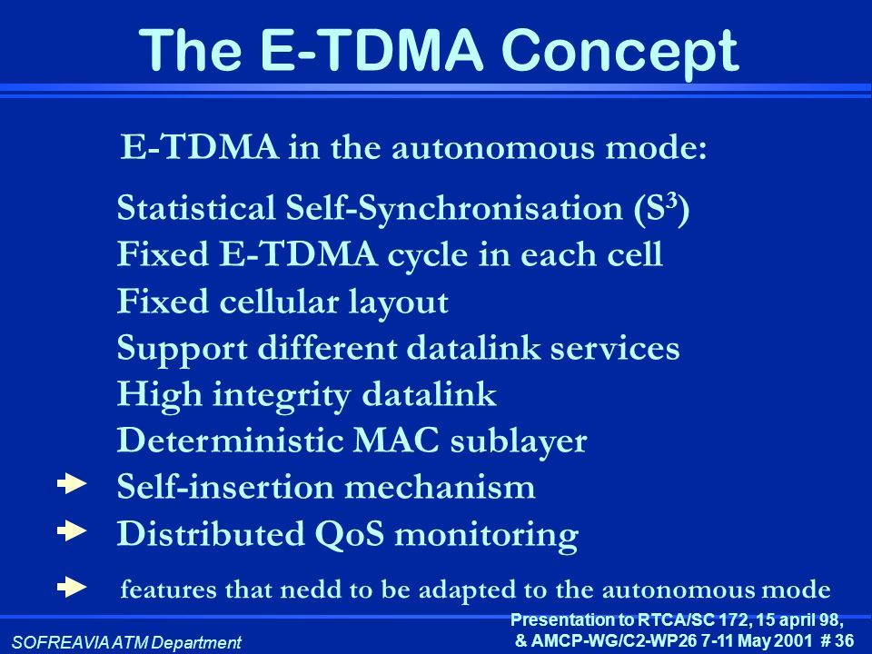 E-TDMA in the autonomous mode: