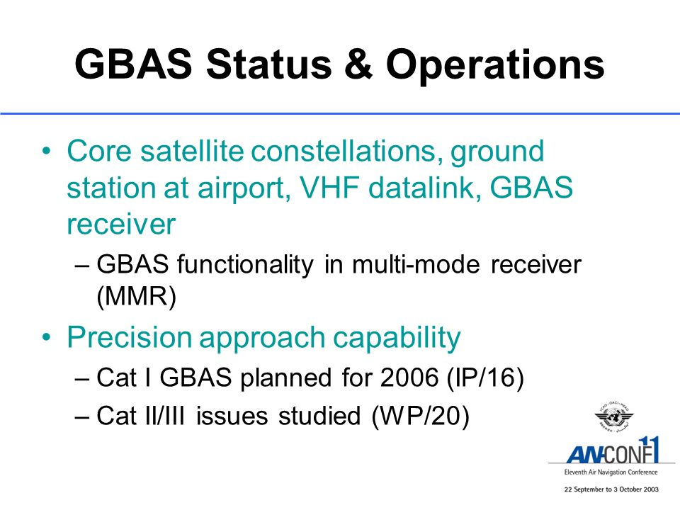 GBAS Status & Operations