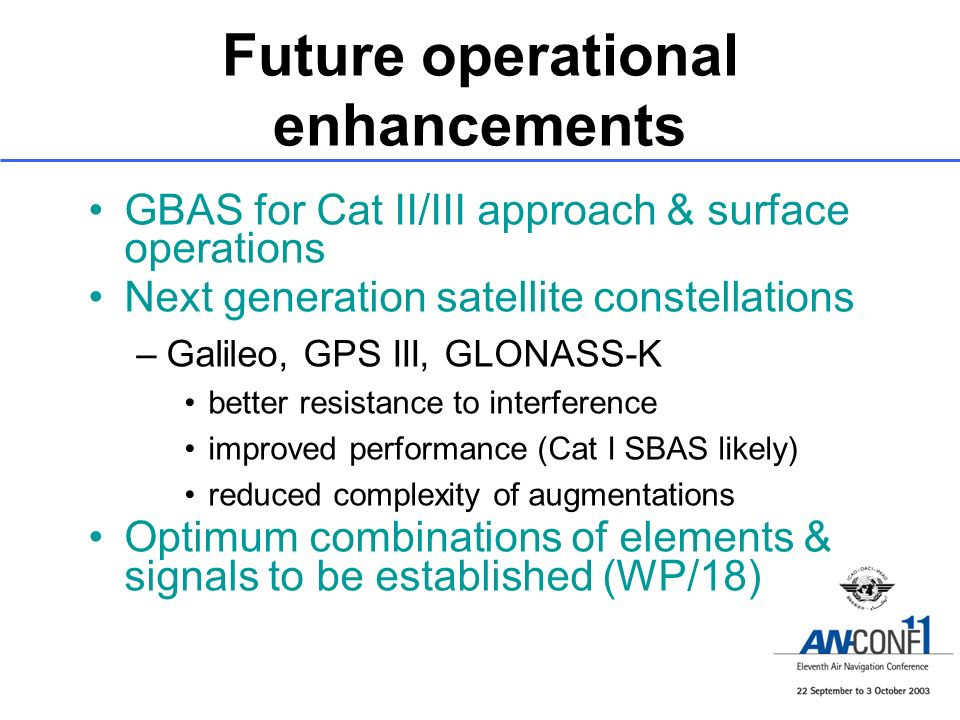 Future operational enhancements
