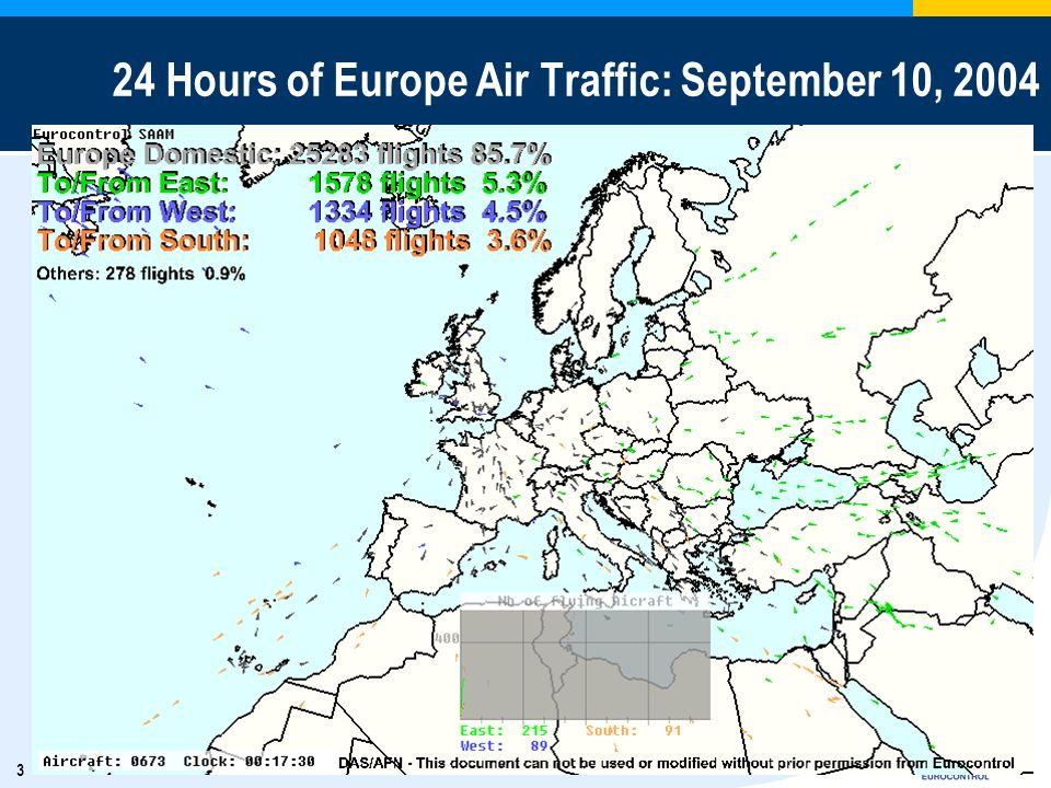 24 Hours of Europe Air Traffic: September 10, 2004