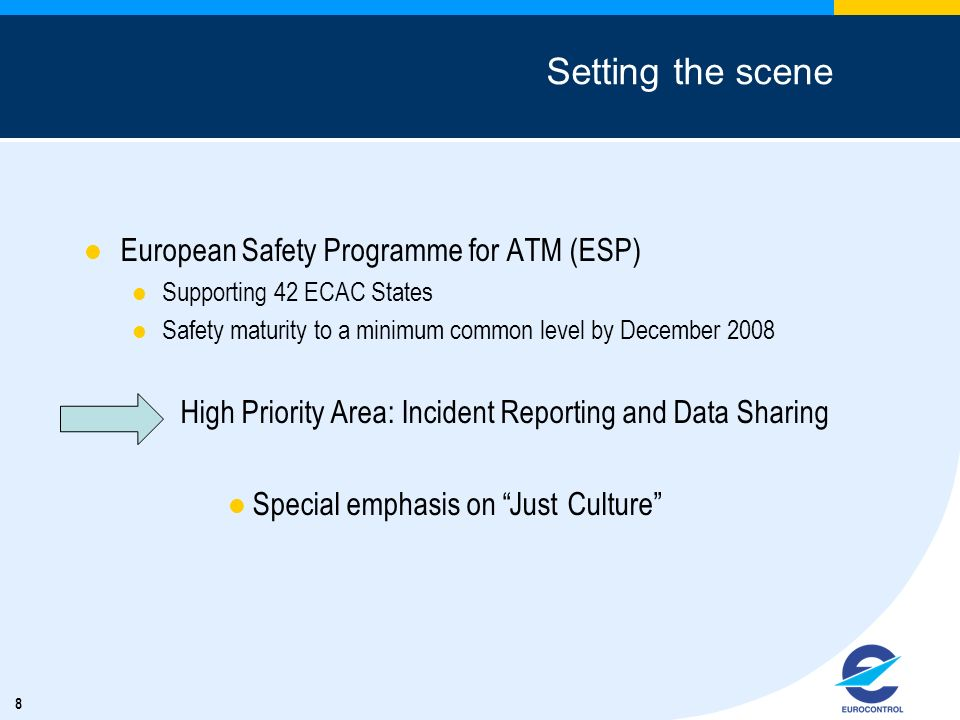 Setting the scene European Safety Programme for ATM (ESP)