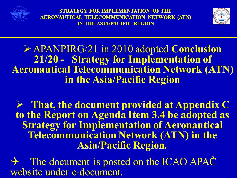 The document is posted on the ICAO APAC website under e-document.