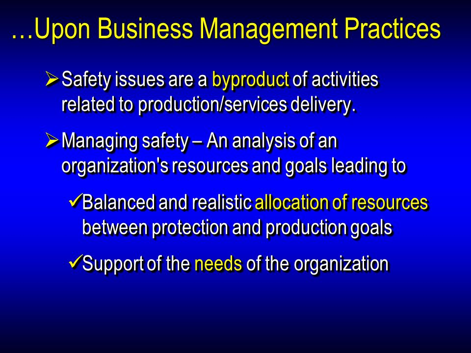 …Upon Business Management Practices