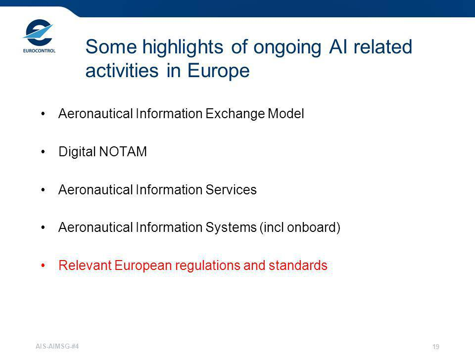 Some highlights of ongoing AI related activities in Europe