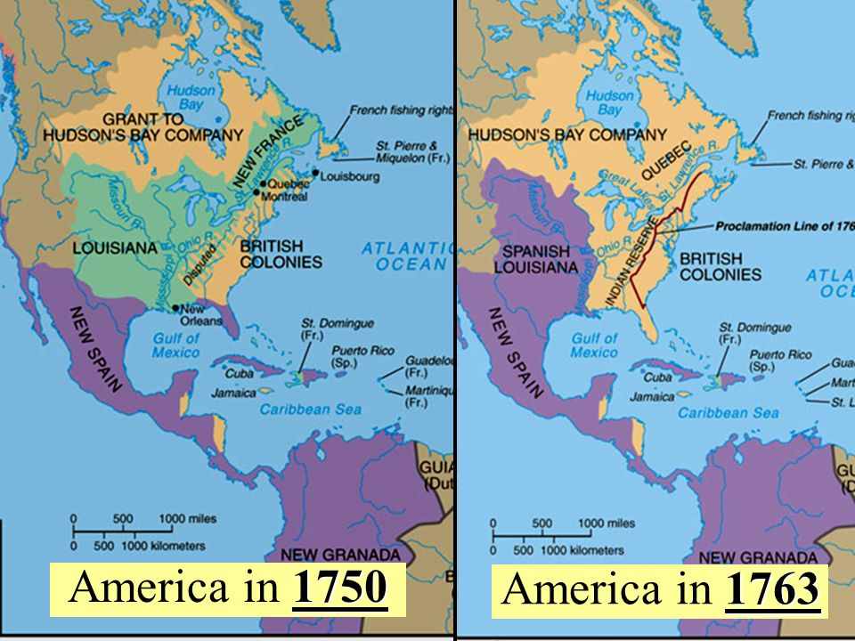 North America after 1763 America in 1750 America in 1763