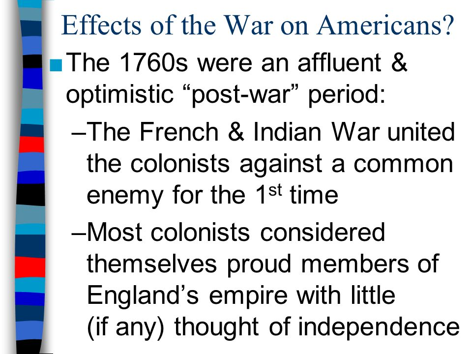 Effects of the War on Americans