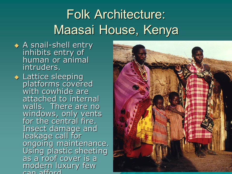 Folk Architecture: Maasai House, Kenya