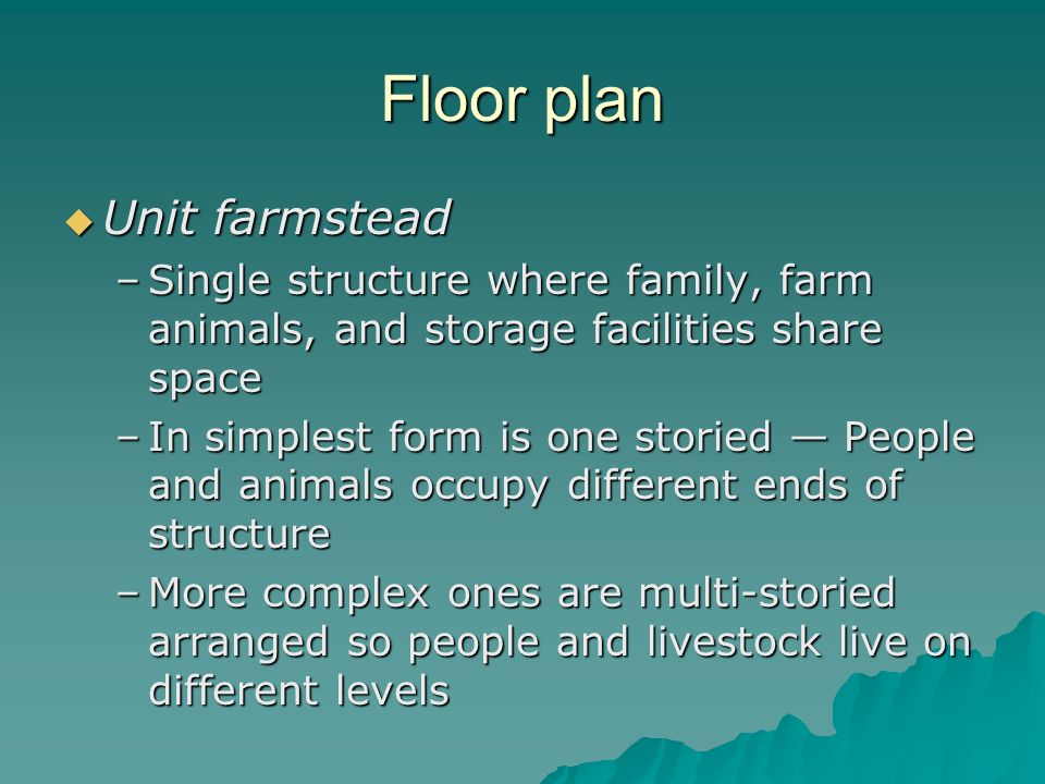 Floor plan Unit farmstead
