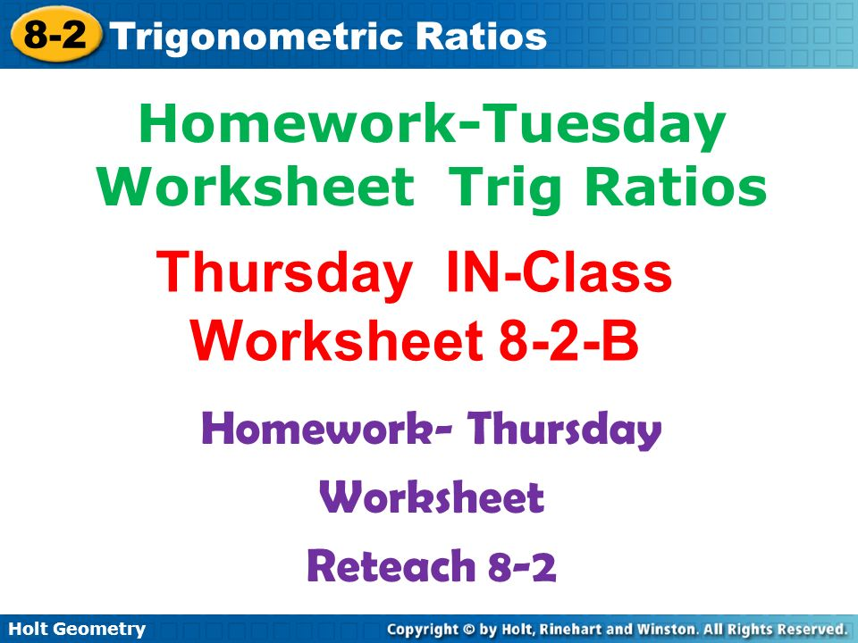Write Each Fraction As A Decimal Rounded To The Nearest Hundredth. Thursday Inclass Worksheet 82b. Worksheet. Worksheet Trig Ratios In Right Triangles At Mspartners.co