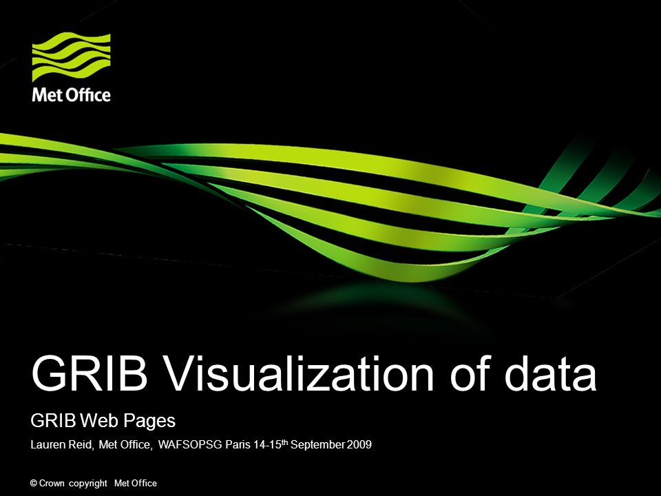 GRIB Visualization of data