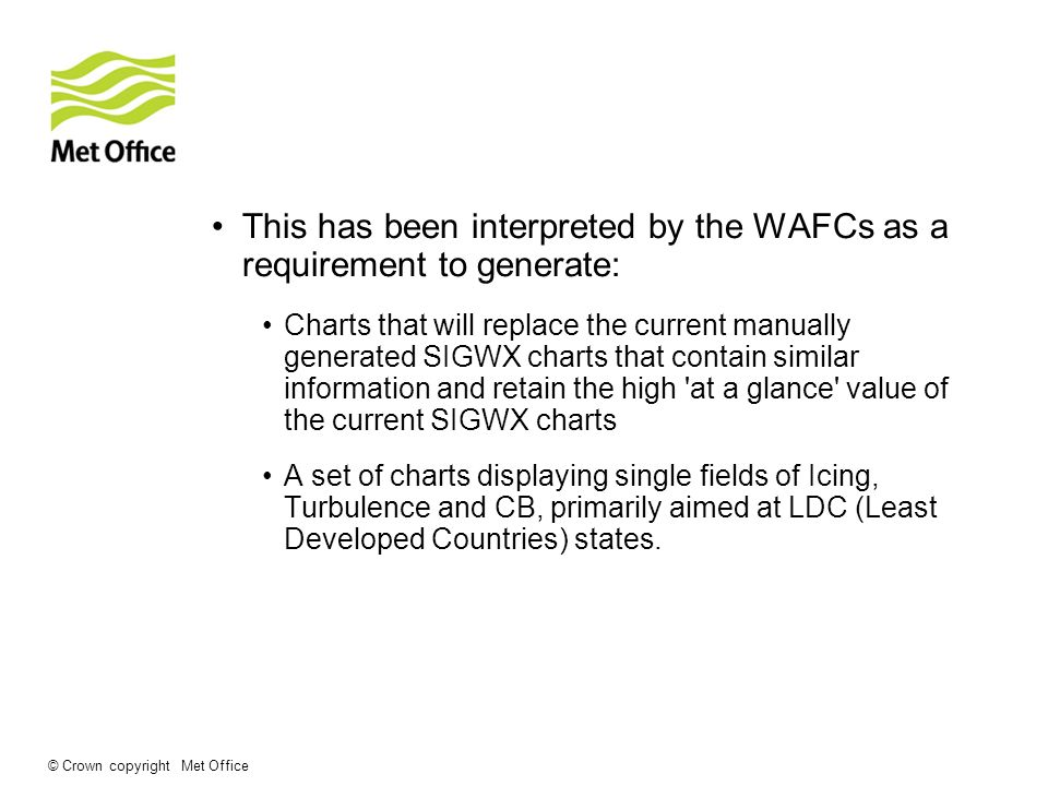This has been interpreted by the WAFCs as a requirement to generate: