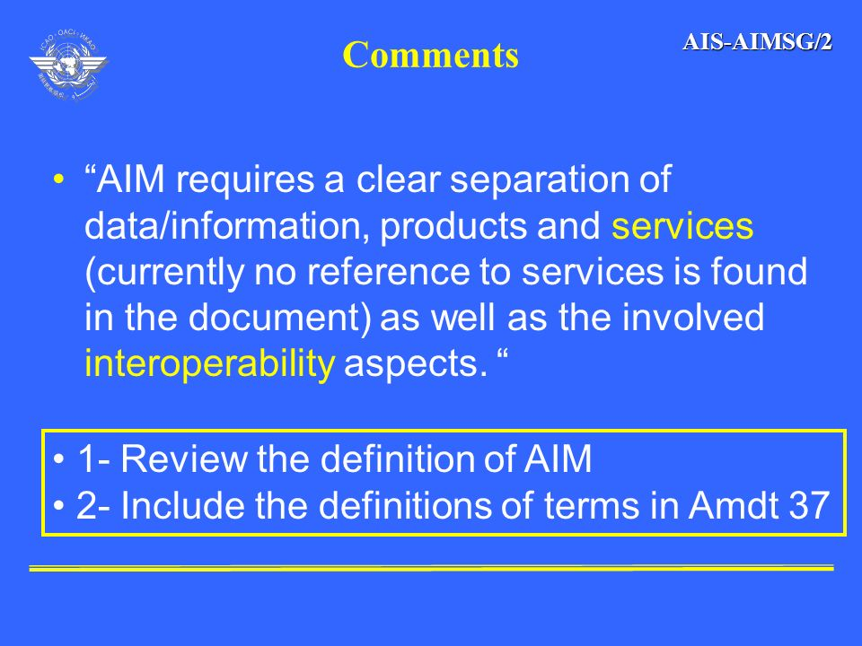 1- Review the definition of AIM