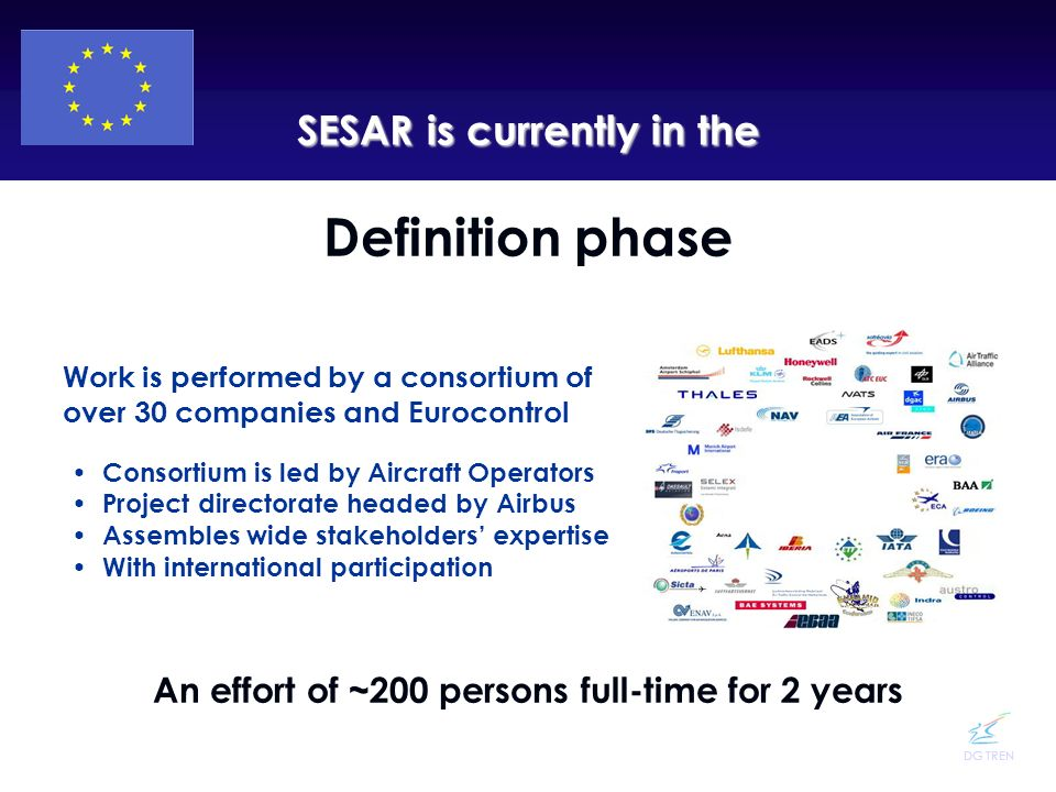 Definition phase SESAR is currently in the
