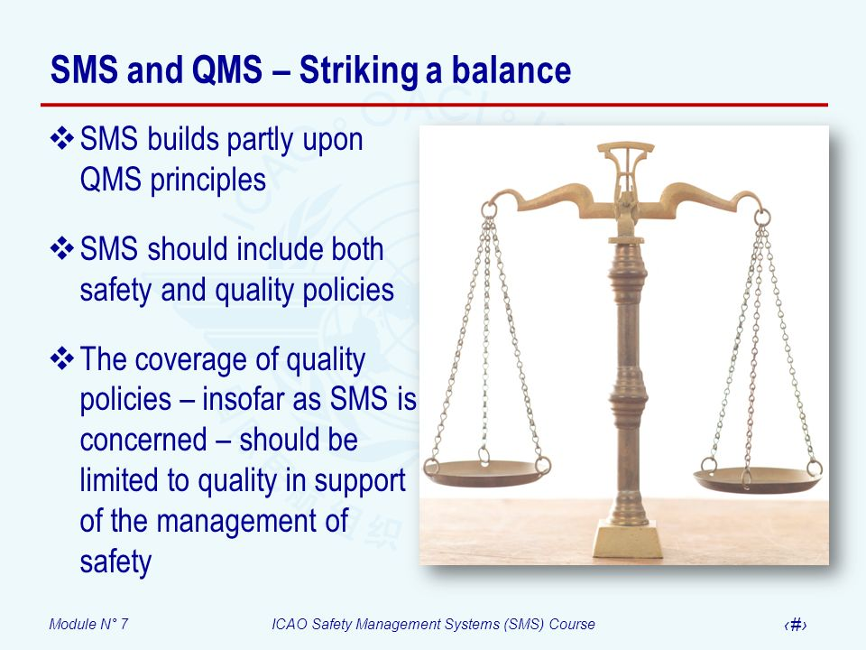 SMS and QMS – Striking a balance