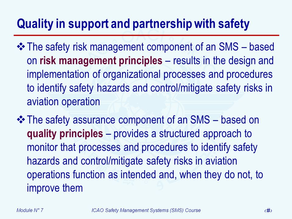 Quality in support and partnership with safety