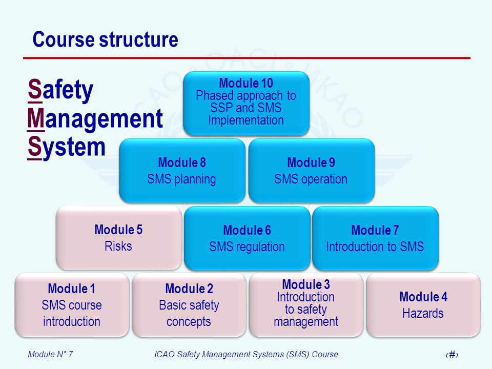 Safety Management System Course structure Module 1