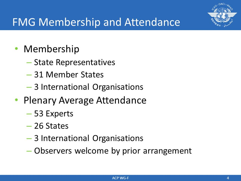 FMG Membership and Attendance