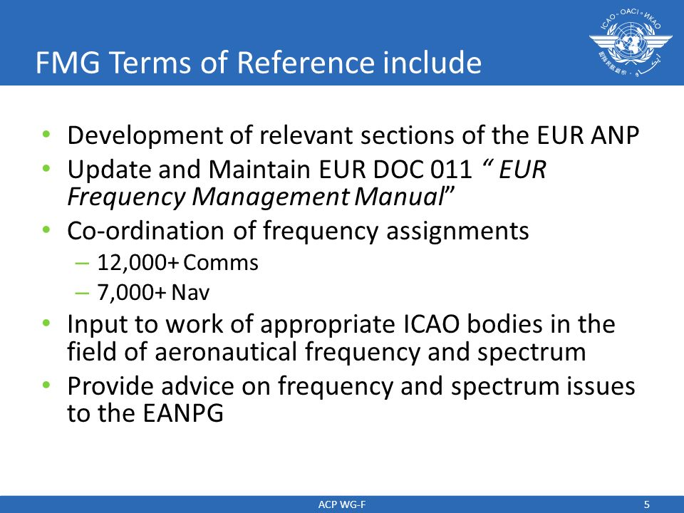 FMG Terms of Reference include