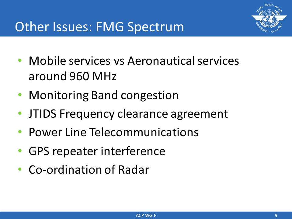 Other Issues: FMG Spectrum