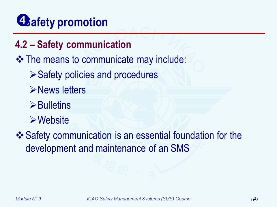 Safety promotion 4.2 – Safety communication